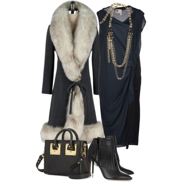 A fashion look from November 2014 featuring Lanvin dresses, Valentino ankle booties and Sophie Hulme shoulder bags. Browse and shop related looks.