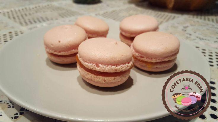 Pink Macarons apricot taste