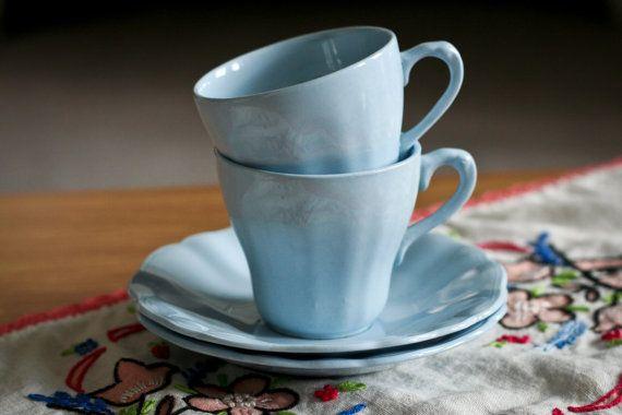 Vintage J & G Meakin Celeste Pastel Sky Blue by TeacupAndMouse