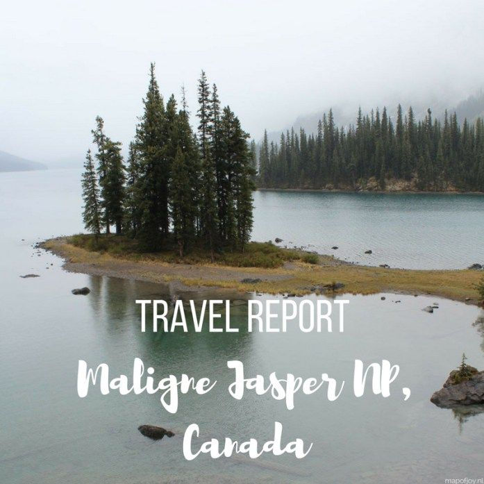 Maligne travel report, Alberta, Jasper NP, Canada - Map of Joy
