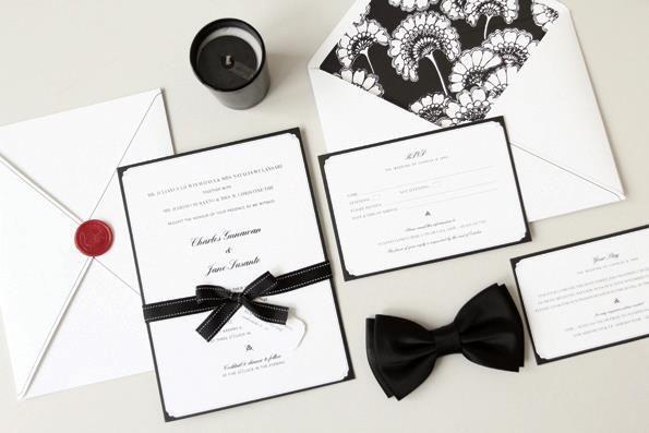 Super elegant invitation in black color. more ideas? visit : www.bridestory.com