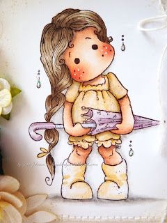Jane's Lovely Cards: The Ribbon Girl DT - Card Challenge - Add Ribbon or Twine