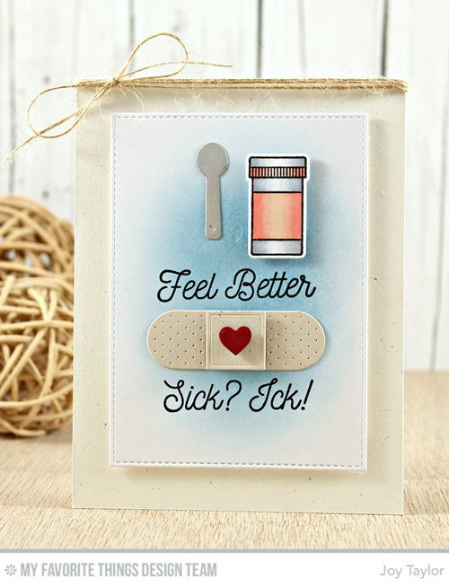Handmade card from Joy Taylor featuring Feel Better stamp set and Die-namics #mftstamps