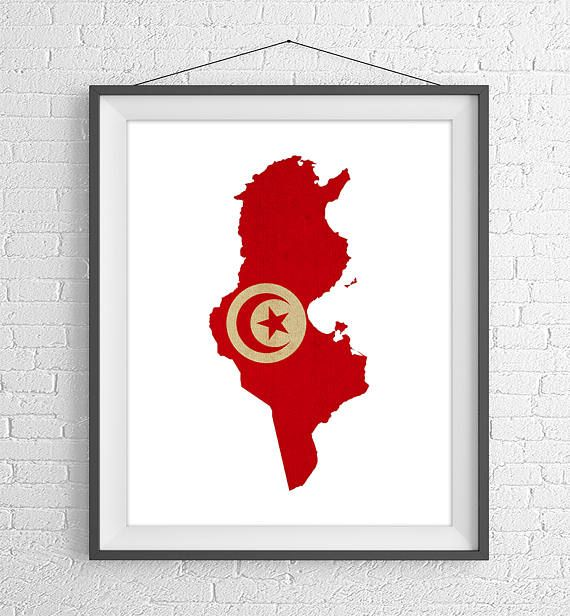 Tunisia Flag Map Print - https://www.etsy.com/listing/524022564/tunisia-flag-map-print-tunisia-map?ref=shop_home_active_1- Tunisia Map, Tunisia Silhouette Art, Vintage Flag Poster, Wall Art, Map of Tunisia, Geography Gift, African Gifts