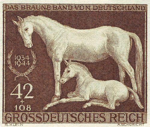 German Horse Stamp circa 1934