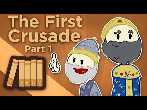 Europe : The First Crusade - I: The People's Crusade - Extra History In 1095CE, Pope Urban gathered the leaders of the Christian community at the Council of Clermont. Urged on by Emperor Alexius Comnenos of Constantinople, he called for a crusade to retake the Holy Land from the Muslims who occupied Jerusalem. Muslims had occupied the Holy Land for over 400 years, but the timing was politically right for the Pope and the Byzantine Emperor. Pope