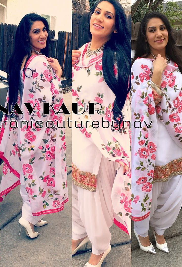 Handpaint duppata on gerogette with georgette salwar kameez and lacework touch up