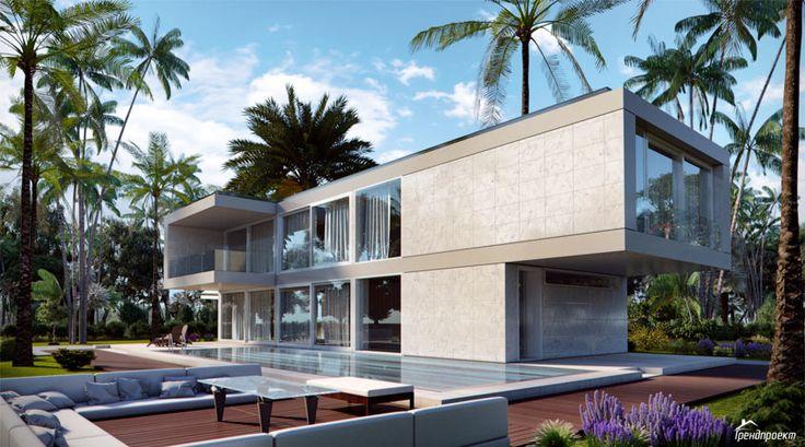 Тренд-211 Проект современного большого удобного двухэтажного дома