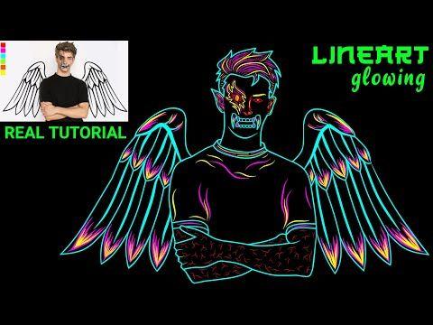 Cara Membuat Line Art Glowing Keren Kekinian Untuk Avee Player Di Infinite Design Dan Picsart Youtube Di 2020 Gambar Serigala Karya Seni Garis Ilustrasi Grafis