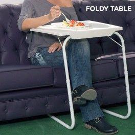 Una práctica mesa plegable portátil, que le será muy útil en su hogar para realizar multitud de funciones o actividades, como desayunar en la cama, comer, apoyar el ordenador portátil, dibujar, leer, hacer deberes y manualidades los niños, etc. La Mesa Plegable Foldy Table puede transportarse y guardarse con facilidad, ya que es totalmente desmontable y ocupa poco espacio. Esta mesa auxiliar ajustable es fuerte y ligera, adaptable a 18 posiciones diferentes (6 alturas y 3 ángulos distintos)…