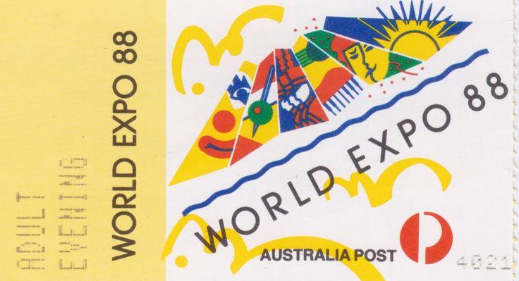 World Expo 88, Evening Ticket, Brisbane, 1988.