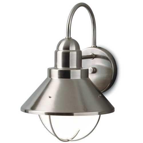 Kichler Lighting Outdoor Nautical Wall Light in Brushed Nickel Finish | 9022NI | Destination Lighting