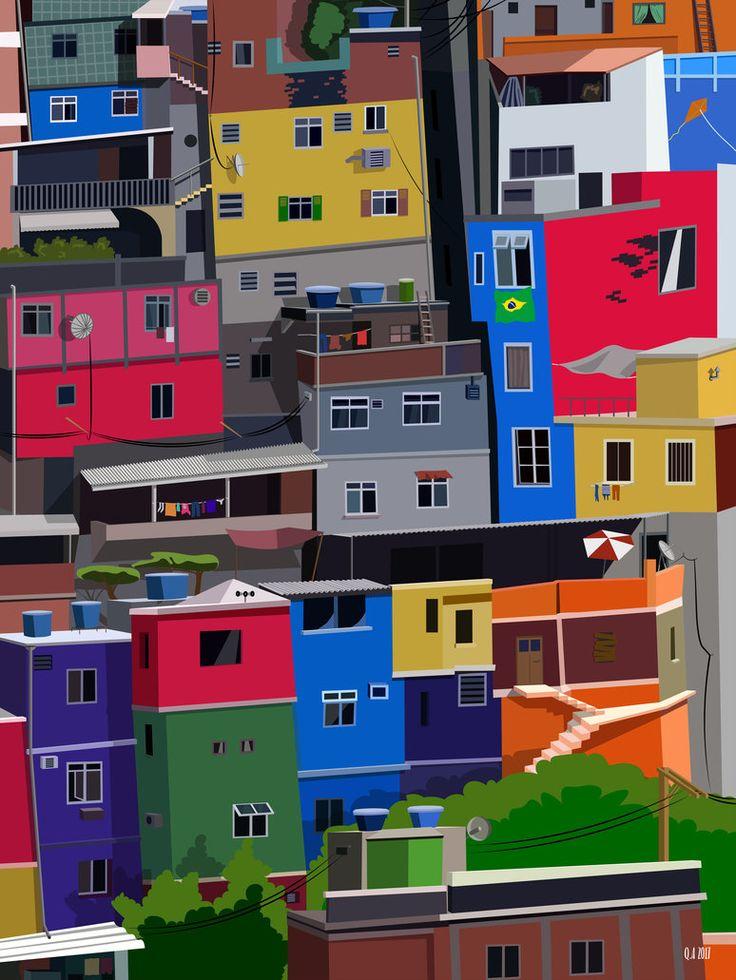 80. Favelas LD by qaartworks.deviantart.com on @DeviantArt