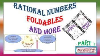 Liked the FREE SUBTRACTING INTEGERS FOLDABLE?  Then   check this out.  This rational numbers packet has several types of foldables and writing activities for math. It could be used for notes, review, or classwork   These followings could be used with any rational number assignment.  -  FOLDABLE-RATIONAL NUMBERS  -  FOLDABLE-DECIMALS AND FRACTIONS ON A LINE -  FOLDABLE SQUARES- SUMS AND DIFFERENCES OF RATIONAL NUMBERS -   FOLDABLE QUADS- PRODUCTS AND QUOTIENTS OF RATIONAL NUMBERS -  MY LITTLE…