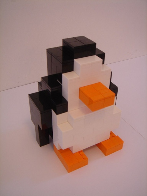 Pinguin model based on a commercial we made