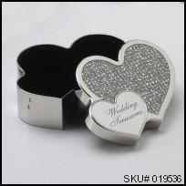 019536 - Modern Romance Double Heart Trinket Box #thingsengraved #thingsengravedgifts Things Engraved Wedding Gifts