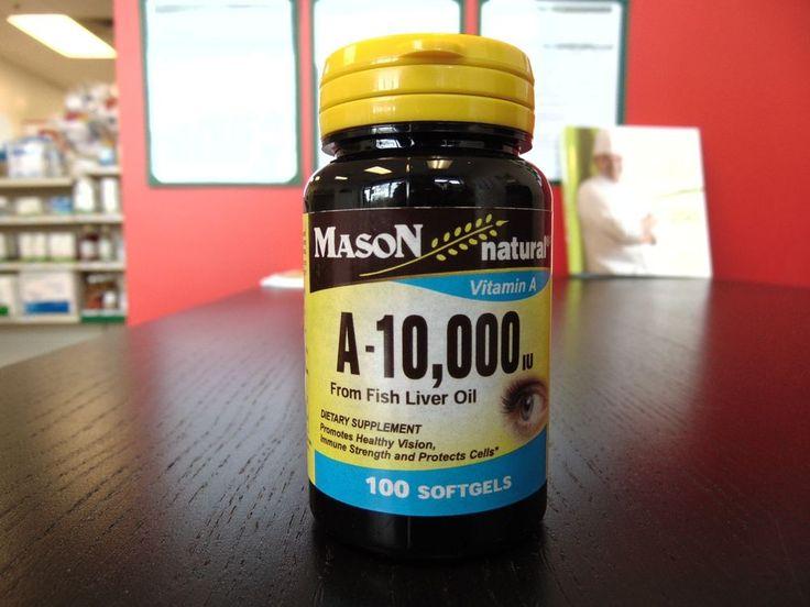 Mason natural vitamin A-10,000 from fish liver oil, 100 count #MasonNatural