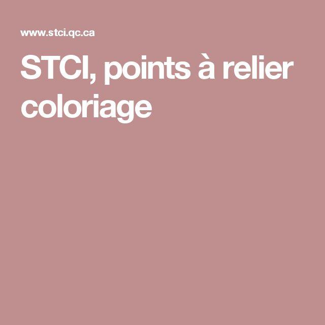 STCI, points à relier coloriage