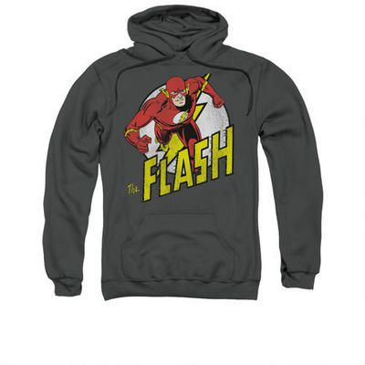 The Flash Running Adult Charcoal Hoodie |