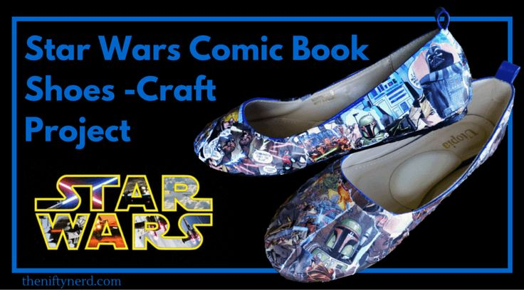 Check out this nerdy craft tutorial to make your own Star Wars comic book themed shoes! May the Force be with you as you go in style. Learn more now!