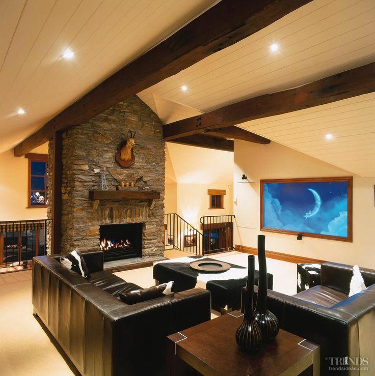 Wanaka House TV lounge