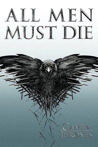 Gra o Tron - All Men Must Die - plakat - 61x91,5 cm  Gdzie kupić? www.eplakaty.pl
