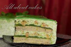 All about cakes: Торт-суфле с марципаном  и прослойкой из киви