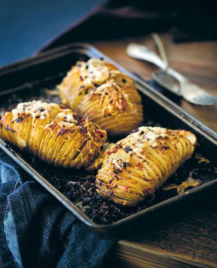 Hasselback potato gratin by Billy Law from Man Food | Cooked