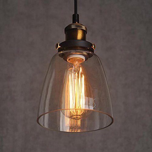 Glass Shade Plafonnier encastrable Vintage Retro Hängende des ampoules de lumière E27Cap sans ampoule à incandescence