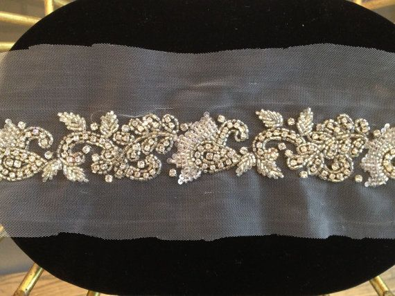 1 YARD of  Luxury Crystal Beaded Bridal Trim by allysonjames, $298.00