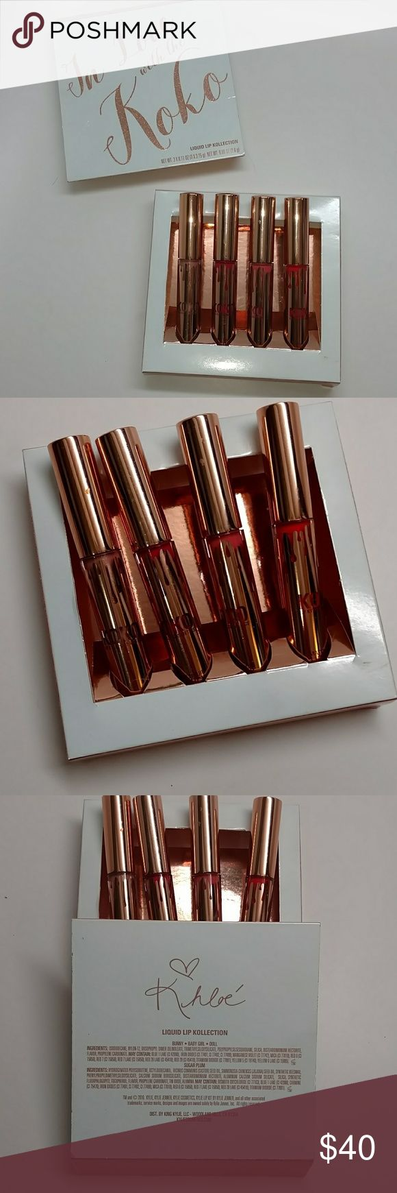 In Love With KoKo lip Kollection In Love With KoKo lip Kollection. Direct from Kylie Cosmetics. Copy of original invoice available. Need with box never tested or used. Fast Shipping. Kylie Cosmetics Makeup Lipstick