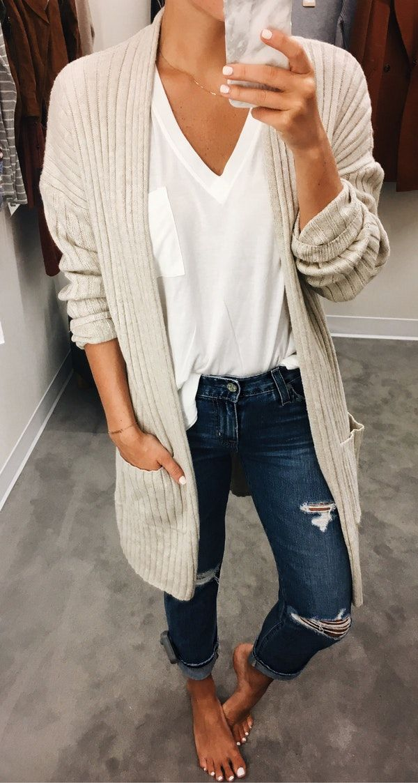 #summer #outfits  I Literally Cannot Believe How Fast Things Have Sold Out With The Nordstrom Sale This Year  This Cardigan Is One Of My Few Top Picks That's Still In Stock In A Few Colors ($31) // This Basic Tee Is One To Stock Up On ($15)