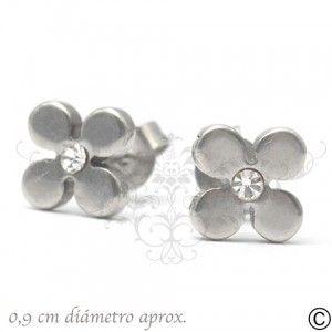 ERT_1037, aros, acero, circón, fiesta, accesorios, moda, joya, flores