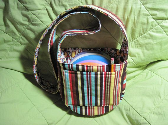 Hand made Disc Golf Bag by PamSewsItAll on Etsy, $25.00