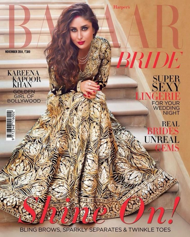 Kareena on Harper's @BazaarIndia's Nov, 2014 Bride Issue in http://www.AbuSandeep.com/ AbuJani
