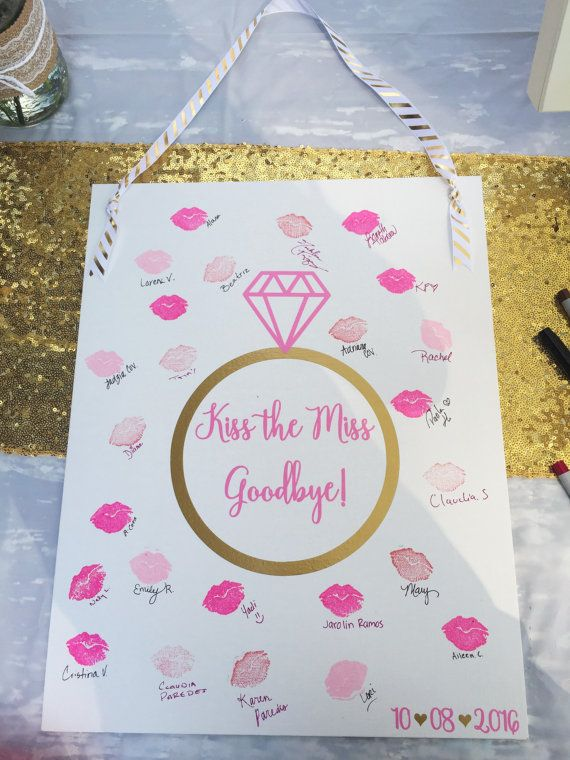 Kiss The Miss Goodbye Bachelorette Party Bridal by CoraEverlyAfter