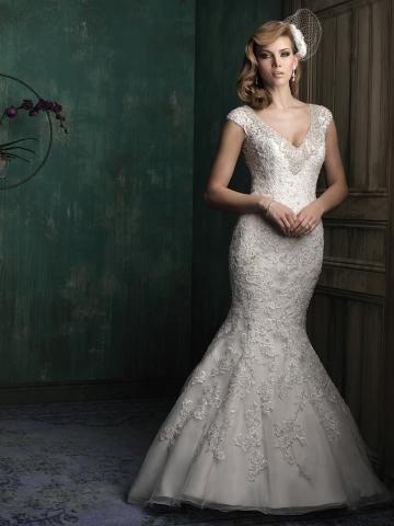 Styl trumpeta / Mořská panna Elegantní & moderní Bez rukávů Svatební šaty 2015