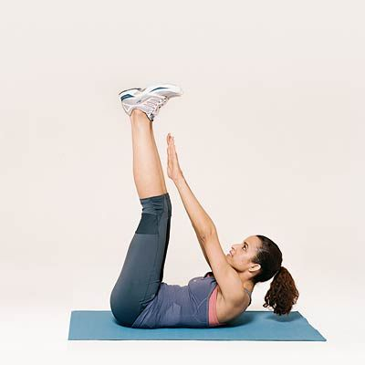These Vertical Leg Crunches will work your #abs. #crunches #fitness | Health.com