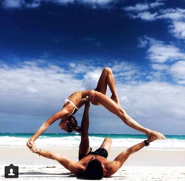 #yoga on the beach. Amazing!