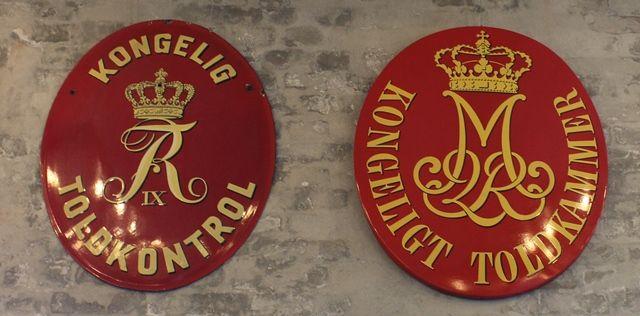 Kongelig Toldkontrol, Frederik den 9. Kongeligt Toldkammer, Margrethe den 2.