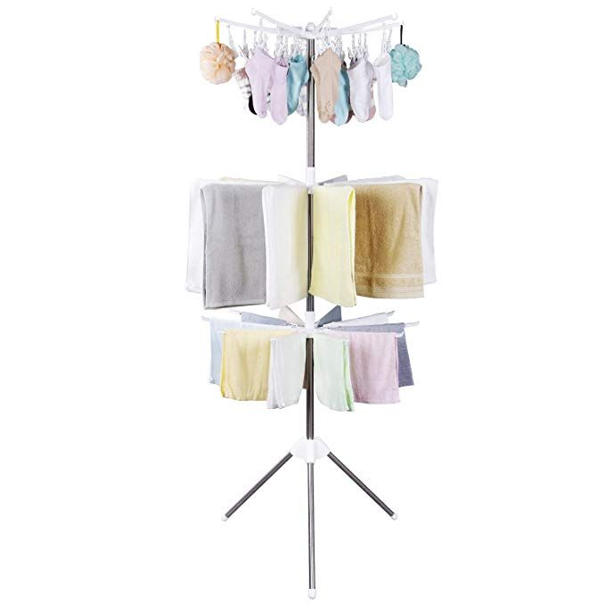 Lifewit Foldable Clothes Drying Rack Portable 3 Tier Clothes