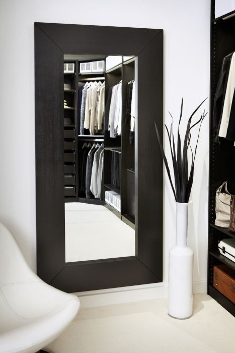 Mongstad mirror black brown walk in closet and love this for Espejo grande madera