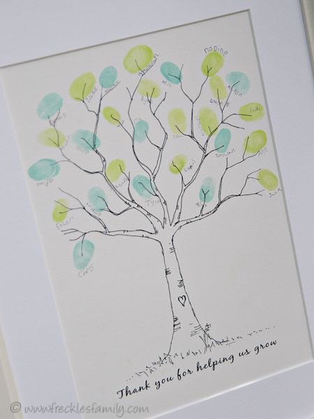 Blog Thumbprint Tree - end of year teacher gift from class