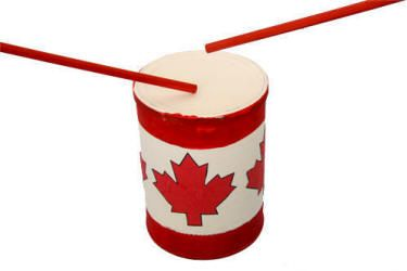 #CanadaDay Craft  Canadian coffee can drum Put together your own Canada Day kids neighbourhood parade!