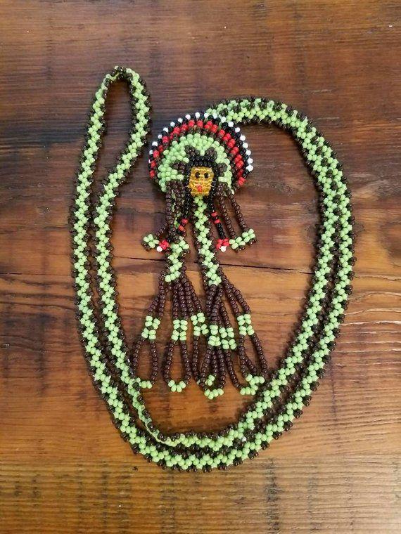Elegant beaded necklace Native American Necklace Beaded Necklace Black and beige beaded necklace