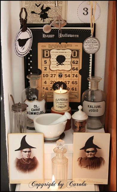 boxwood cottage part 2 of my black white fallhalloween decor plus a new holiday give away - Black And White Halloween Party