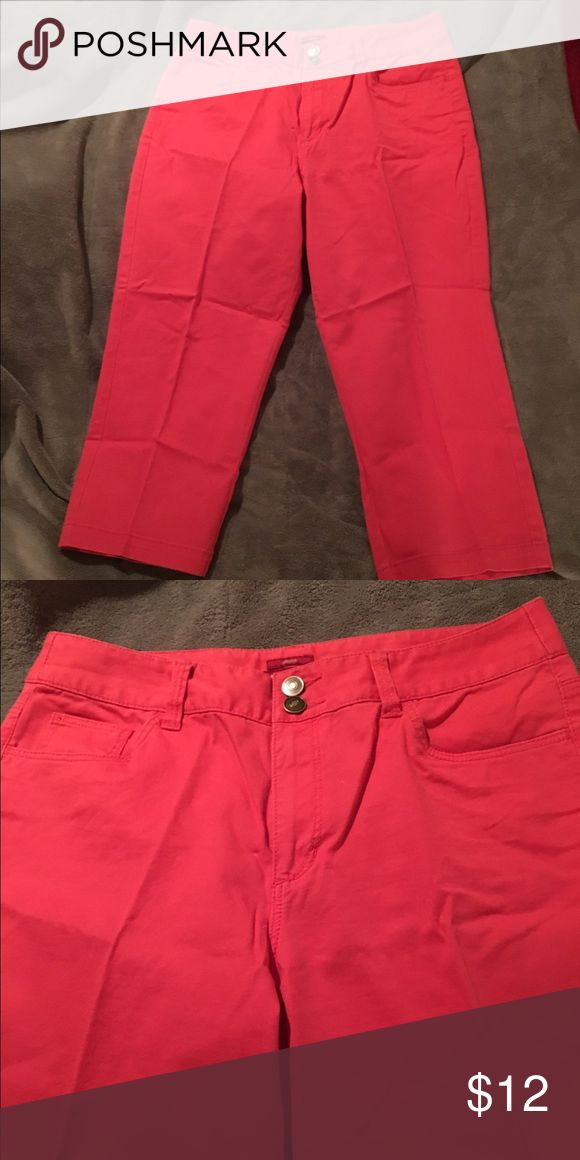 Coral capris Coral capris, only worn a few times, very good condition Merona Pants Capris