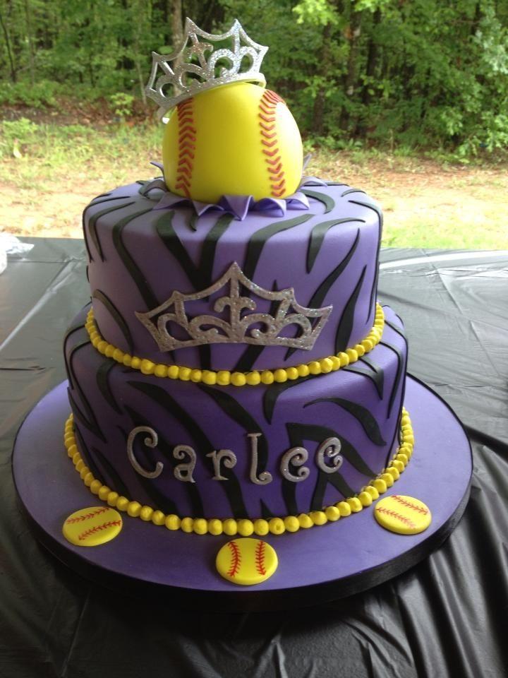 Birthday Cakes - Softball Princess