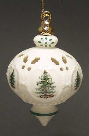 traditional ornament boxed in the spode christmas tree miscorn pattern by spode china