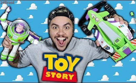 CARRINHO DO TOY STORY DE CONTROLE REMOTO - Lucas Neto Vídeo de Brinquedo para Crianças